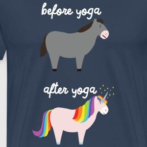 Before Yoga - After Yoga T-Shirts - Männer Premium T-Shirt