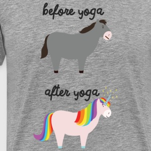 Before Yoga - After Yoga T-shirts - Mannen Premium T-shirt