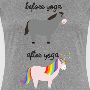 Before Yoga - After Yoga Camisetas - Camiseta premium mujer