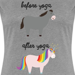Before Yoga - After Yoga T-Shirts - Frauen Premium T-Shirt