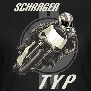 MD - Biker Shirt Motiv Supersport - Schräger Typ retro crome black and white - RAHMENLOS Geburtstag T-Shirts - Frauen T-Shirt
