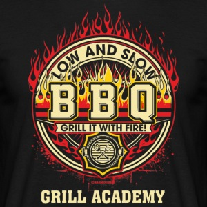BBQ - Low and Slow - Grill it with Fire - Grill Academy - RAHMENLOS Geburtstag Geschenk T-Shirts - Männer T-Shirt