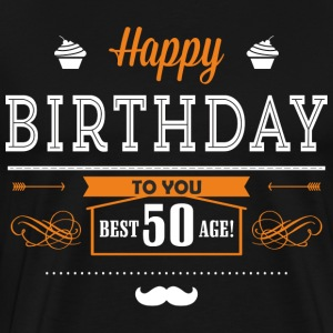BD - Best age 50 - happy birthday to you retro ice orange design - RAHMENLOS Geburtstag Geschenk T-Shirts - Männer Premium T-Shirt