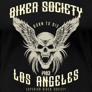 SSD Biker Society Los Angeles 1983 Skull Wings classic look - RAHMENLOS Motorcycle Design T-Shirts - Frauen Premium T-Shirt