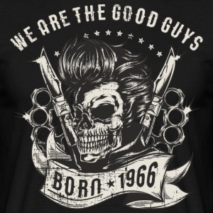 SSD Biker - we are the good guys - Skull Born 1966 - RAHMENLOS Motorrad Designs T-Shirts - Männer T-Shirt