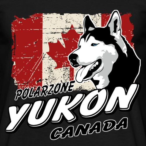 Yukon - Husky - Canada Vintage Flag