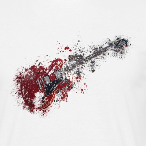 Paint Splattered Guitar