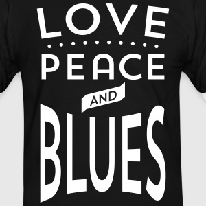 Love, Peace and Blues - Männer Kontrast-T-Shirt