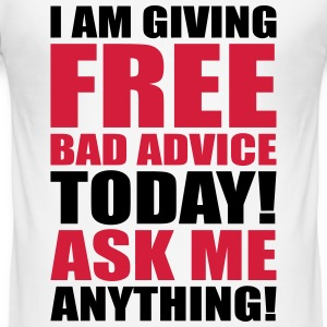 free bad advice T-shirts - Herre Slim Fit T-Shirt