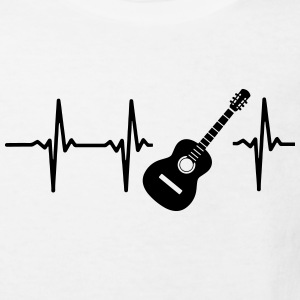 A HEART IS BEATING FOR THE GUITAR Shirts - Kids' Organic T-shirt