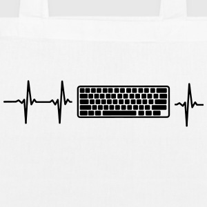 MY HEART BEATS FOR COMPUTER! Bags & Backpacks - EarthPositive Tote Bag