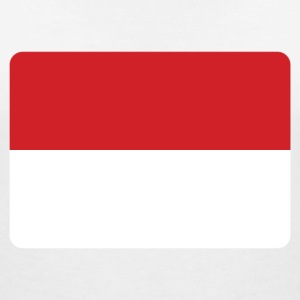 INDONESIA FLAG T-Shirts - Women's V-Neck T-Shirt