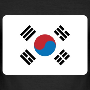 SYDKOREA FLAGGA T-shirts - Slim Fit T-shirt herr