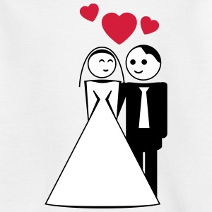 happy wed / newly wed / wedding / stag 3c Shirts - Teenager T-shirt