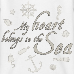 my_heart_belongs_to_the_sea_06201601 T-Shirts - Kinder T-Shirt