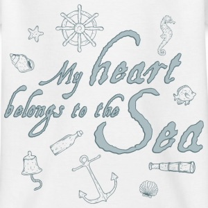 my_heart_belongs_to_the_sea_06201603 T-Shirts - Kinder T-Shirt