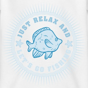 relax_and_lets_go_fishing_06201609 T-Shirts - Kinder T-Shirt