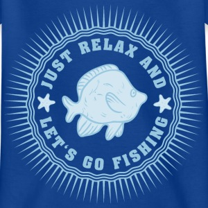 relax_and_lets_go_fishing_06201607 T-Shirts - Kinder T-Shirt