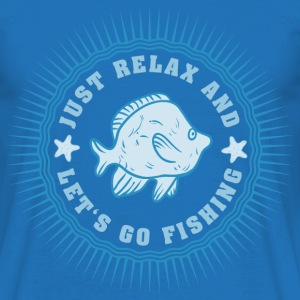 relax_and_lets_go_fishing_06201608 T-Shirts - Männer T-Shirt