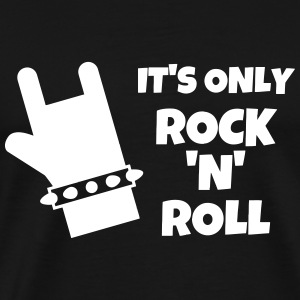 Rock - Music - Metal - Punk - Rocker - Alcohol T-Shirts - Men's Premium T-Shirt