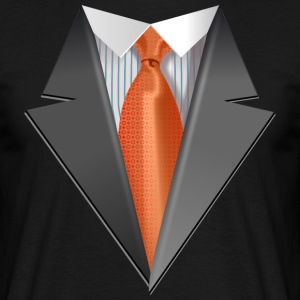 Tuxedo Tie Designs Tie orange T-Shirts - Männer T-Shirt