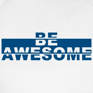 Basecape weiß - Be Awesome - Baseballkappe