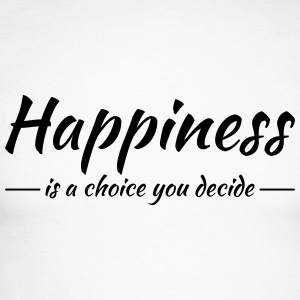Happiness is a choice you decide Shirts met lange mouwen - Mannen baseballshirt lange mouw