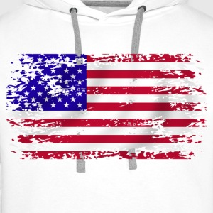 usa flag grunge style 06 Sweat-shirts - Sweat-shirt à capuche Premium pour hommes