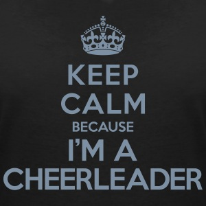 Keep calm because i'm a Cheerleader Tee shirts - T-shirt col V Femme