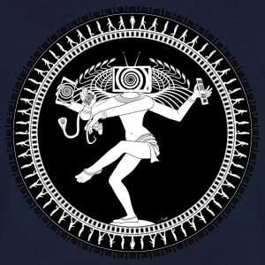 Manipulated Shiva T-Shirts - Men's V-Neck T-Shirt