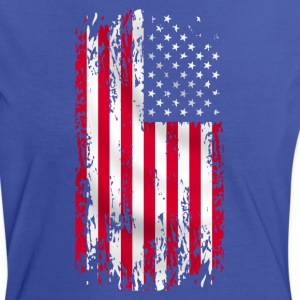 usa flag grunge style 07 Tee shirts - T-shirt contraste Femme
