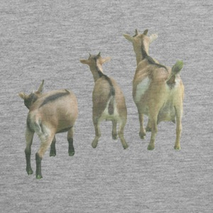 three goats from behind - Men's Premium Tank Top