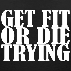 Get Fit or Die Trying - T-shirt med v-ringning dam