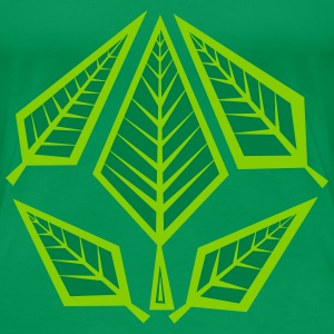Angular Foliage - Frauen Premium T-Shirt