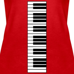 piano, piano keyboard Tops - Women's Premium Tank Top