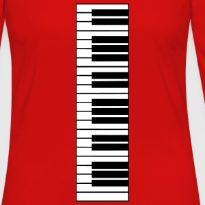 piano, piano keyboard Manches longues - T-shirt manches longues Premium Femme