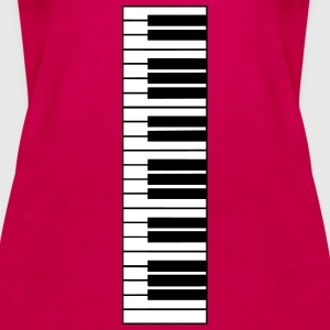 piano, piano keyboard Topper - Premium singlet for kvinner