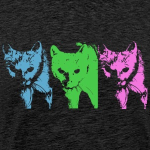 Three Cats - Männer Premium T-Shirt