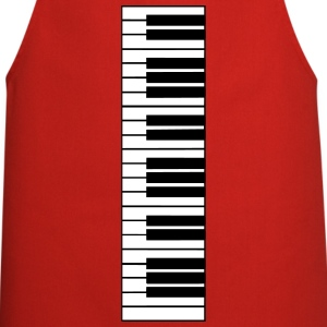 piano, piano keyboard Kookschorten - Keukenschort