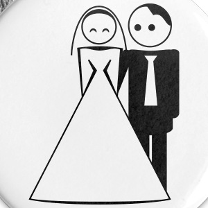 couple / wedding / mariage / bride and groom 1c Buttons & badges - Buttons/Badges lille, 25 mm