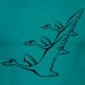 Bird flying goose duck sunglasses formation T-Shirts - Men's T-Shirt