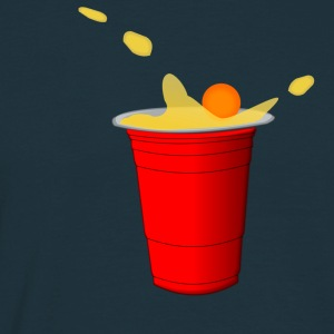 Beerpong hit Tee shirts - T-shirt Homme
