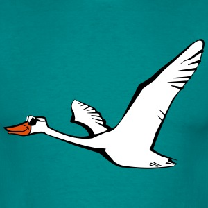 Bird flying goose duck sunglasses T-Shirts - Men's T-Shirt