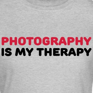 Photography is my therapy T-shirts - Vrouwen T-shirt