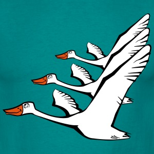 Bird flying goose duck formation T-Shirts - Men's T-Shirt