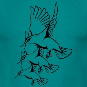 Bird fly formation flutter T-Shirts - Men's T-Shirt