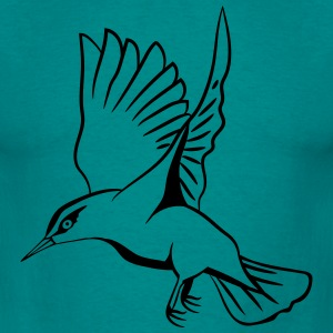 fluttering bird flying T-Shirts - Men's T-Shirt