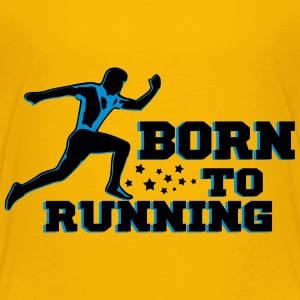 BORN TO RUNNING MAN Tee shirts - T-shirt Premium Ado