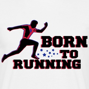 BORN TO RUNNING MAN Tee shirts - T-shirt Homme