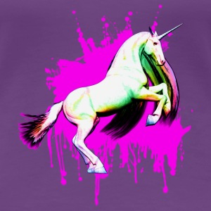 Rainbow Unicorn Graffiti (Pink) T-Shirts - Frauen Premium T-Shirt